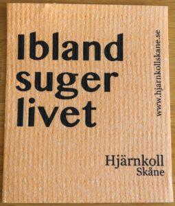 En disktrasa med tryck från Hjärnkoll Skåne